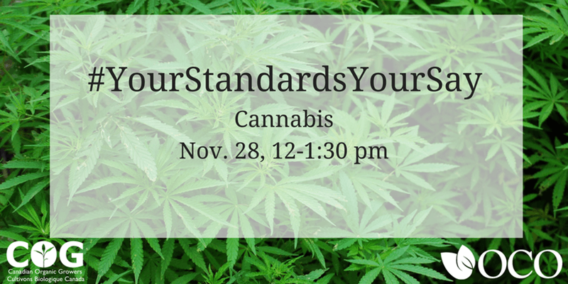 Organic Council Cannabis Webinar, November 28